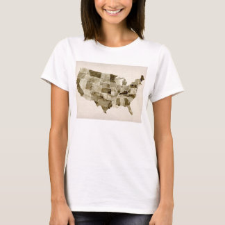 United States Watercolor Map T-Shirt