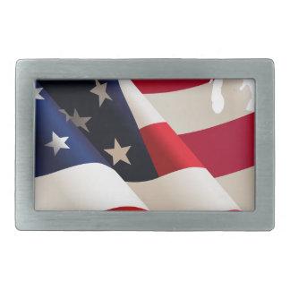 United States wave flag Belt Buckle