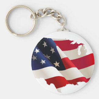 United States wave flag Keychain