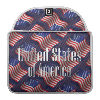 United States Waving Flag Sleeves For MacBook Pro