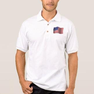 United States Waving Flag Polo Shirt