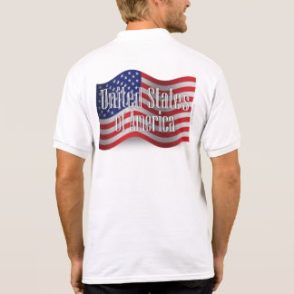 United States Waving Flag Polo T-shirts