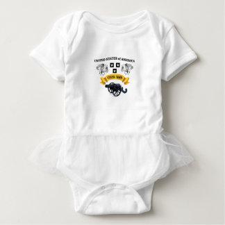 united states winged horse cw baby bodysuit