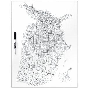 United States Map Dry Erase Presentation & Message Boards | Zazzle on
