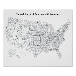 United States Posters Photo Prints Zazzle - Us-map-poster