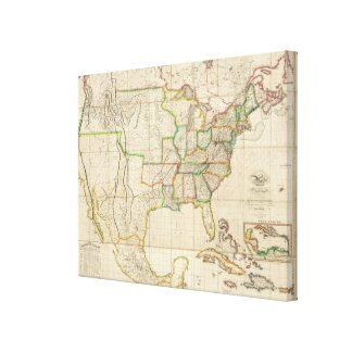United States with the Contiguous British Canvas Print