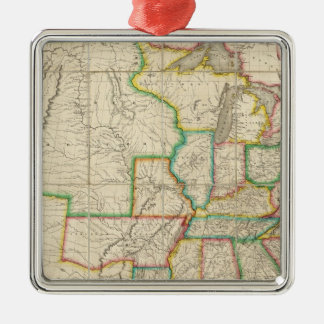 United States with the Contiguous British Metal Ornament