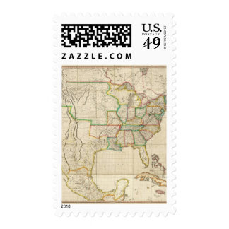 United States with the Contiguous British Postage Stamp