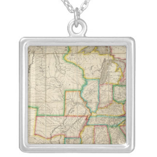 United States with the Contiguous British Square Pendant Necklace