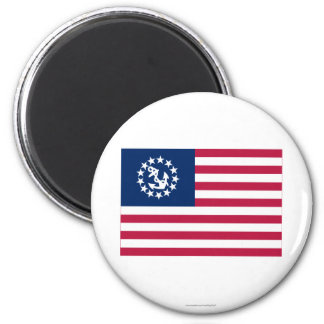 United States Yacht Ensign 2 Inch Round Magnet