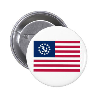 United States Yacht Flag Pinback Buttons