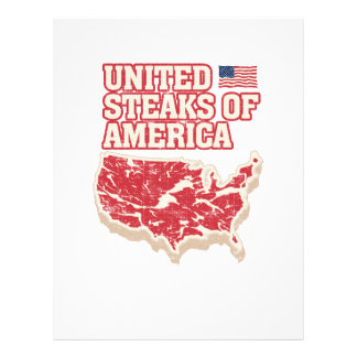 United Steaks of America Personalized Flyer