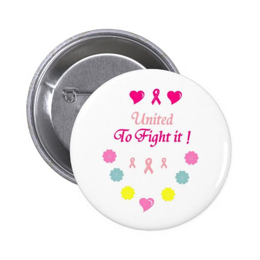 United to Fight Breast Cancer 2 Inch Round Button