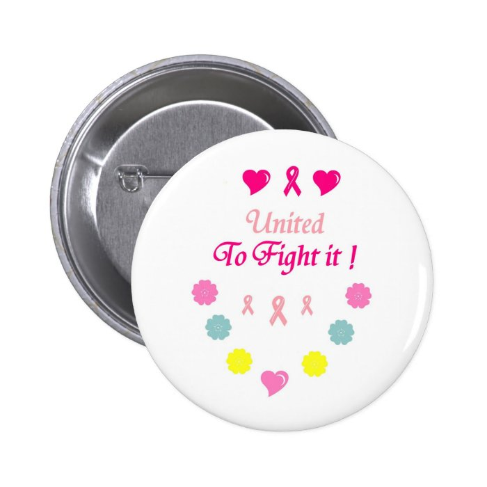 United to Fight Breast Cancer Button