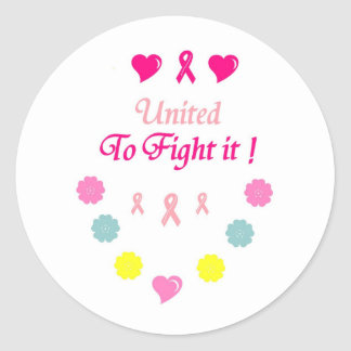 United to Fight Breast Cancer Classic Round Sticker