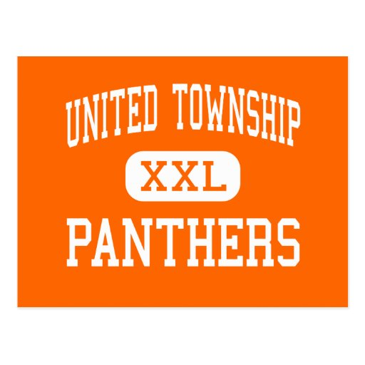 United Township - Panthers - High - East Moline Postcard