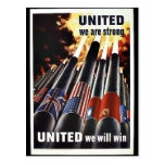 United We Are Strong Post Card