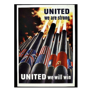 United We Are Strong Postcard