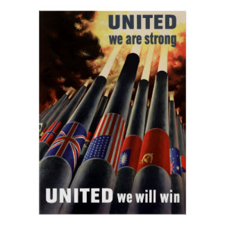 United We Are Strong Poster