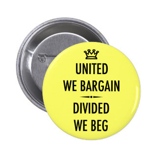 United We Bargain Button