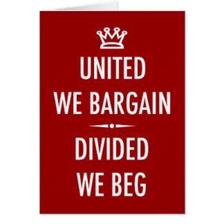 United We Bargain Greeting Card