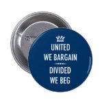 United We Bargain Pinback Button