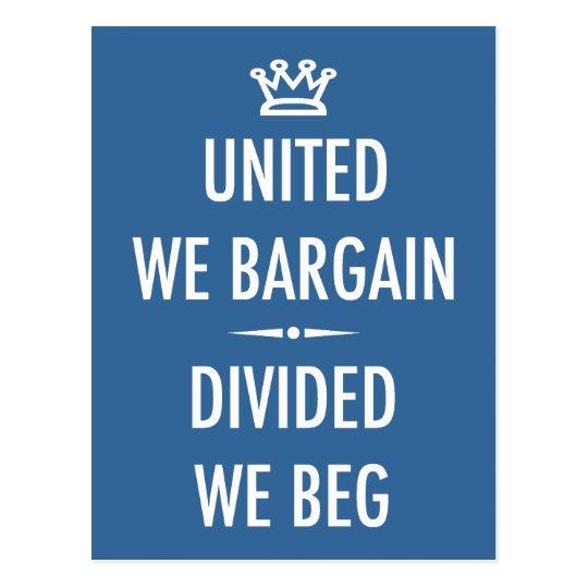 United We Bargain Postcard