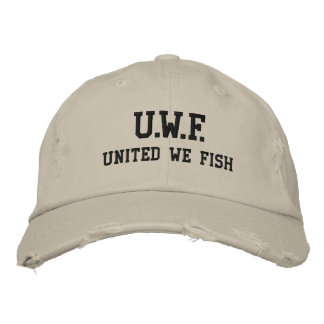 UNITED WE FISH™  Distressed Chino Twill Cap