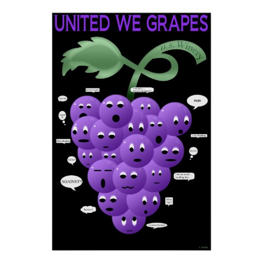 United We Grapes Poster