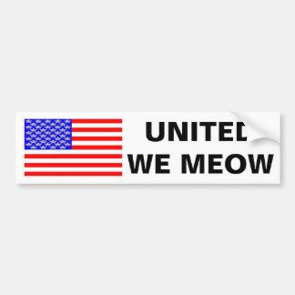 United We Meow Bumper Sticker
