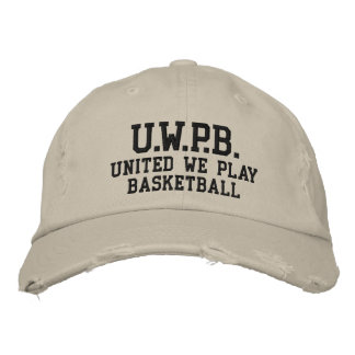 UNITED WE PLAY™  BASKETBALL EMBROIDERED BASEBALL HAT