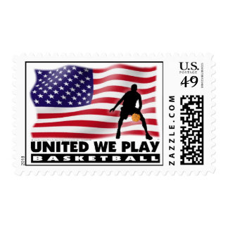 UNITED WE PLAY®  Basketball Postage Stamp
