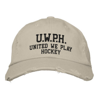 UNITED WE PLAY™ HOCKEY EMBROIDERED BASEBALL HAT