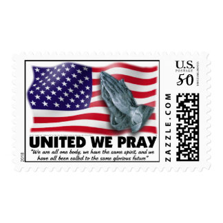 UNITED WE PRAY®   Postage Stamp