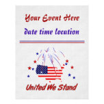 """United We Stand 8.5"""" X 11"""" Flyer"""