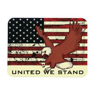 United we stand american flag eagle magnet