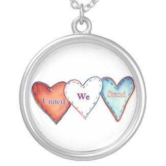 United We Stand American Hearts Jewelry Necklace