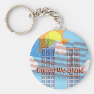 United We Stand Basic Round Button Keychain