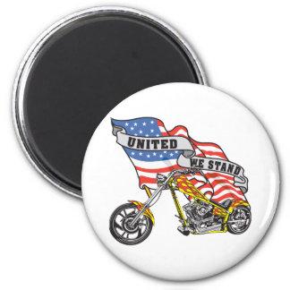 United We Stand Biker Magnet