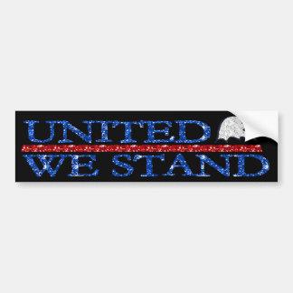 United We Stand black Bumper Stickers