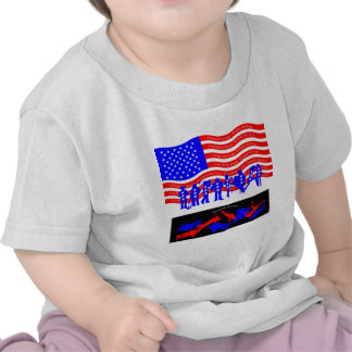 United We Stand - divided we fall american flag Tshirt