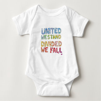 United We Stand, Divided We Fall Baby Bodysuit