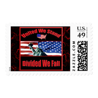 United We Stand Divided We Fall Postage Stamp