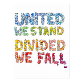 United We Stand, Divided We Fall Postcard