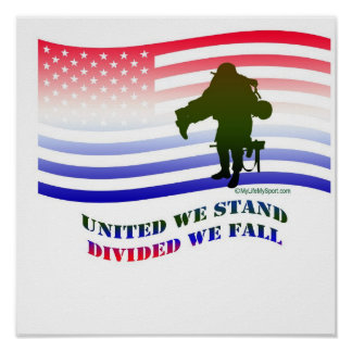 UNITED WE STAND DIVIDED WE FALL POSTER