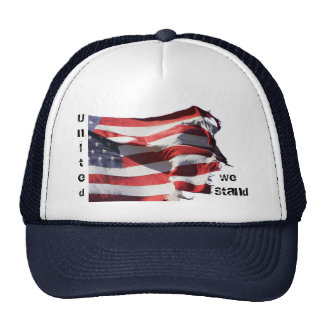 """""""United we stand-divided we fall""""  Series Ball Cap Trucker Hat"""