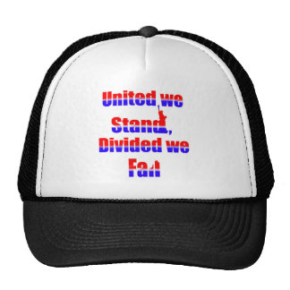 United we Stand, Divided we fall Trucker Hat