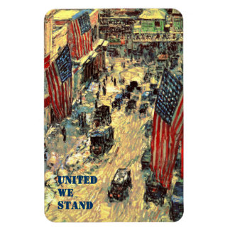 United We Stand. Fine Art  Patriotic Gift Magnet