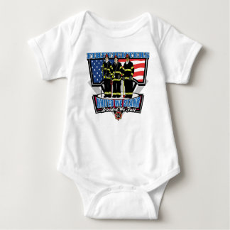 United We Stand Firefighters Baby Bodysuit