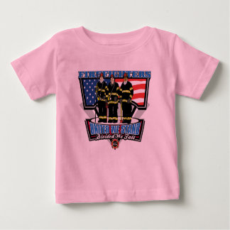 United We Stand Firefighters Baby T-Shirt